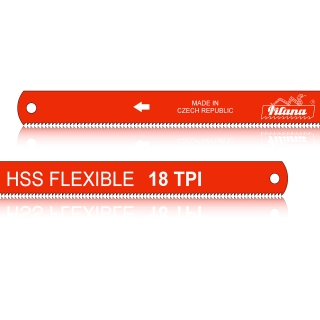 HSS hand hacksaw blade for metal FLEXIBLE