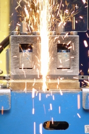 Band saw blade welding